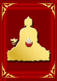 Bouddhist symbol-Golden Medicine Buddha Stock Photography