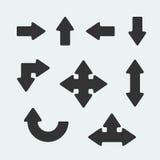 Symbol set arrow. Royalty Free Stock Images