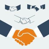 Symbol set handshake Stock Photography