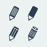 Symbol set pen. Eps 8 file format Royalty Free Stock Photos