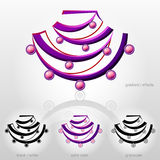 Symbol in shape of bust with bead necklace Stock Images