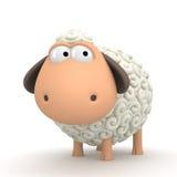 Symbol of 2015. Sheep on white background vector illustration