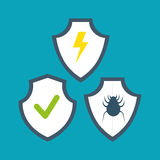 Symbol shield protection data system design. Illustration eps 10 Stock Photography