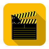 Symbol short film icon. Image,  illustration design Royalty Free Stock Images