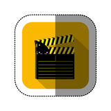 Symbol short film icon. Image,  illustration design Royalty Free Stock Photos