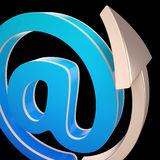 At-Symbol Shows Electronic Mail Correspondence Stock Photography
