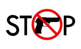 Stop gun banner vector illustration