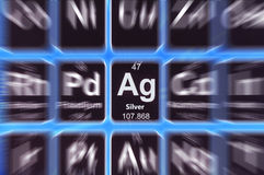 Symbol of silver Stock Photos