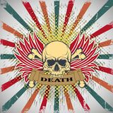 Symbol of the skull with teeth Royalty Free Stock Photo
