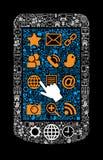 Symbol smartphone Stockfoto
