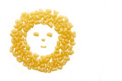 Symbol of a smile from macaroni Stock Photo