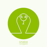 The symbol of the snake Royalty Free Stock Photography