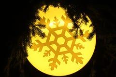 Yellow snowflake background Stock Image