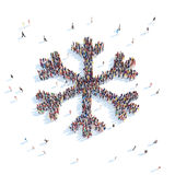 Symbol  Snowflakes. Royalty Free Stock Images