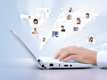Symbol of social network. With people images Stock Images