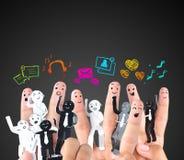 Symbol of social network Stock Photo
