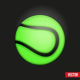 Symbol soft tennis ball Stock Image
