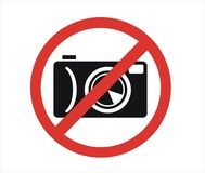 Symbol som förbjuder fotografi stock illustrationer