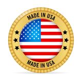 Symbol som göras i USA stock illustrationer