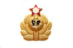 Symbol of the Soviet marine sea fleet Royalty Free Stock Photos