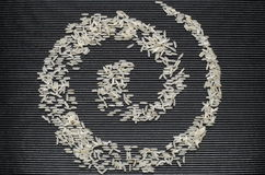 Symbol of the spiral made of rice Royalty Free Stock Images