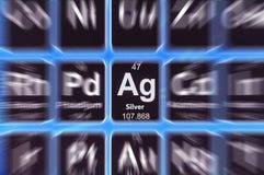 Symbol srebro Zdjęcia Stock