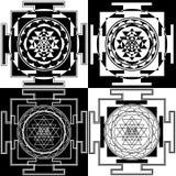 Symbol Sri Yantra Lizenzfreie Stockbilder