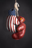 Symbol, the struggle for economic power between the United State Royalty Free Stock Photography