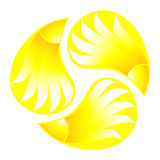 Symbol of sun Royalty Free Stock Images