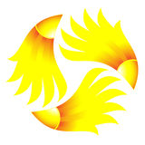 Symbol of sun Stock Photo
