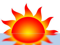 Symbol of the sun Stock Photo