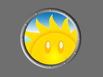 Symbol of the sun look Royalty Free Stock Photo