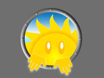 Symbol of the sun look Stock Images