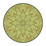 The symbol of the sun. Pagan amulet. Ethnic decorative sign as geometric mandala Stock Photography