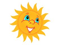 Sun. Symbol of the sun on a white background Royalty Free Stock Photos