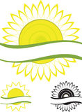 Symbol sunflower Stock Photo