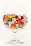 Symbol for tablets and drugs addiction. Representative photo of pills and drugs addiction Stock Photos