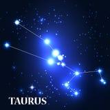 Symbol. Taurus Zodiac Sign. Vector Illustration Royalty Free Stock Photos