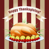 Symbol of thanksgiving day fried turkey Royalty Free Stock Images