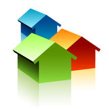 Symbol of three houses Stock Photography
