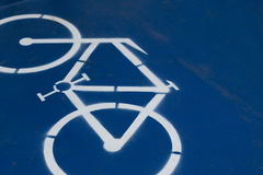 Symbol to indicate the road for bicycles Royalty Free Stock Image