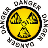 Symbol to radiation Royalty Free Stock Photo