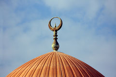 Symbol on top of mosque Stock Photo