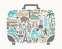 A symbol of tourism and travel Stock Photos