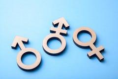 Symbol transgender, rodzaju symbole i zdjęcie stock
