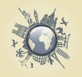 Symbol of travel Stock Photo