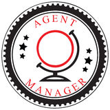 Symbol of a travel agent or manager Stock Photos