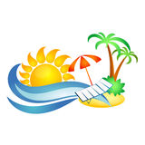 Symbol for travel and recreation Royalty Free Stock Images