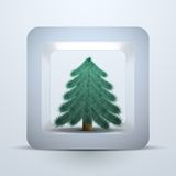 Symbol tree of Christmas and New Year Royalty Free Stock Image