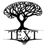 Symbol of a trees for text Royalty Free Stock Photography